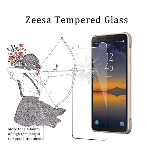 "[2 Pack] ""Galaxy S8 Active"" (Not Fit For Galaxy S8 / S8 Plus) Screen Protector, Zeesa Tempered Glass for ""Samsung Galaxy S8 Active"" - [2.5D] [9H Hardness] [Premium Clarity]"