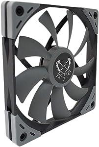 Scythe Kaze Flex 120mm Slim PWM Fan, 300-1800RPM, Quiet Case/CPU Cooler Fan, Single Pack
