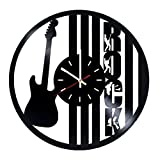 The Rock Vinyl Record Wall Clock – Living room or Garage wall decor – Gift ideas for boys and girls, teens, friends, men – Music Unique Art Design