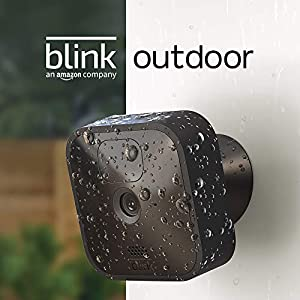Nuova Blink Outdoor, Videocamera di sicurezza in HD, senza fili, resistente alle intemperie, batteria autonomia 2 anni, rilevazione movimento, prova gratuita del Blink Subscription Plan |1 videocamera