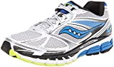 Saucony Men's Guide 8 Running Shoe,White/Blue/Citron,9 M US