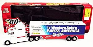 AUTOGRAPHED 1996 Darrell Waltrip #17 Western Auto Racing Signed NASCAR Vintage 1/64 Hauler Diecast with COA by Trackside Autographs
