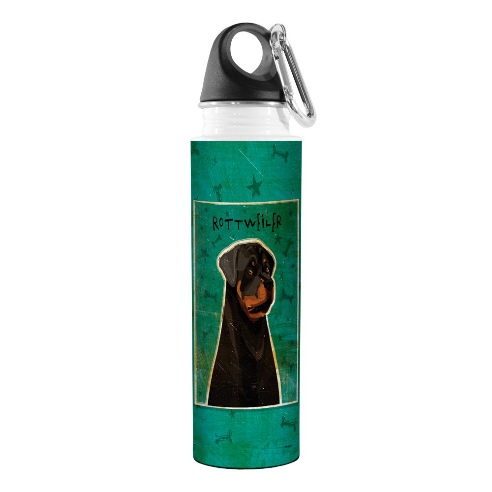 18-Ounce Rottweiler Tree Free Golden Artful Traveler Stainless Steel Water Bottle Tree-Free Greetings VB48007 John W