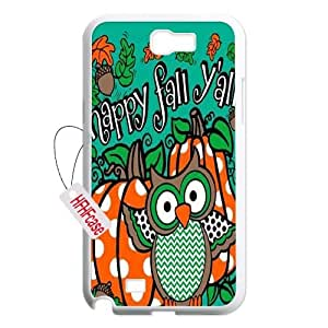 HFHFcase Customized Case for Samsung Galaxy Note2 N7100, happy fall yall Samsung Galaxy Note2 N7100 Cover Case