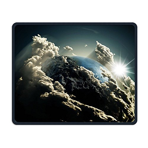 Space Planet Solar System 3d Mouse-pads Electronic Laptop Non Slip Rubber Travel Computer Gaming Mouse Pads Mat Cover 25cm/9.8in X 30cm/11.8in -