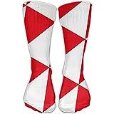 Unisex Red Triangle White High Stockings Winter Socks