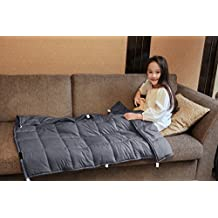 Weighted Blanket by YnM for Kids and Adults Weighted Sensory Blanket for Anxiety, ADHD and Autism(36''x48'')(5 lbs for 40lbs individual)