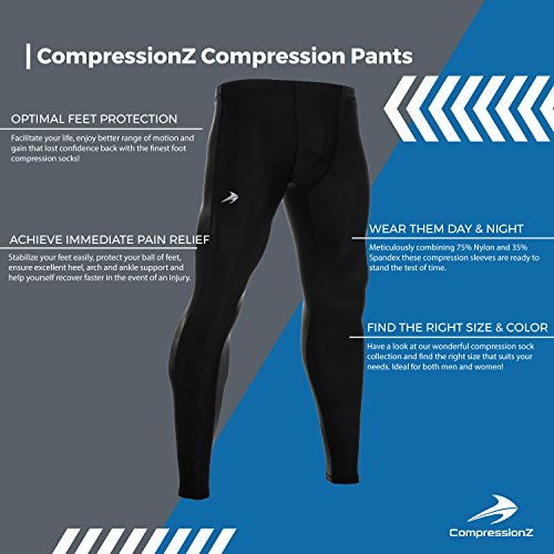 4731f8faf26d7 Compression Pants - Men's Tights Base Layer Leggings - Best for Running/  Workout S