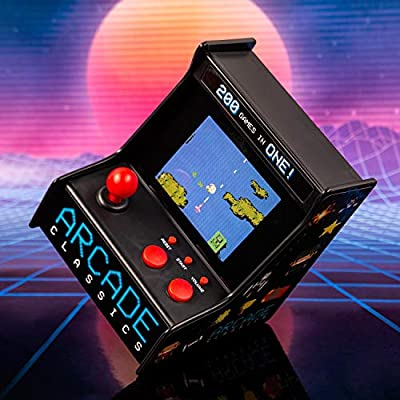 Fizz Creations Desktop Arcade Machine Retro Classic Gaming, Black and Multi Coloured, 9cm x 12cm x 9cm: Kitchen & Dining