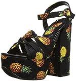 Penny Loves Kenny Women's Scat Platform, Black Pineapple Fabric, 9 Wide US