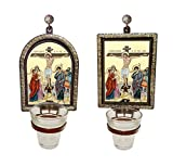 FengMicon Greek Church Orthodox Byzantine Icon with Tealight Holders