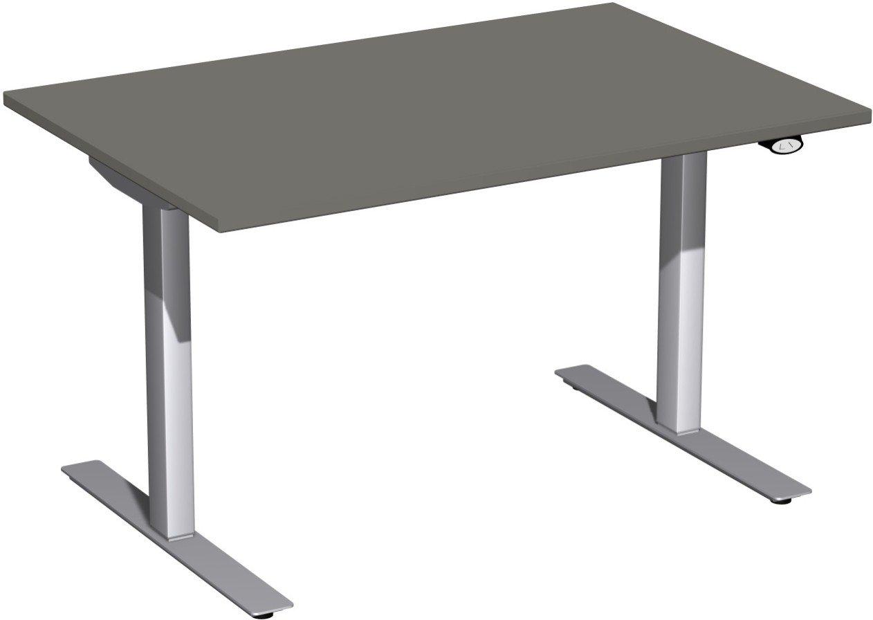 Geramöbel Elektro-Hubtisch höhenverstellbar, 1200x800x680-1160, Graphit/Silber