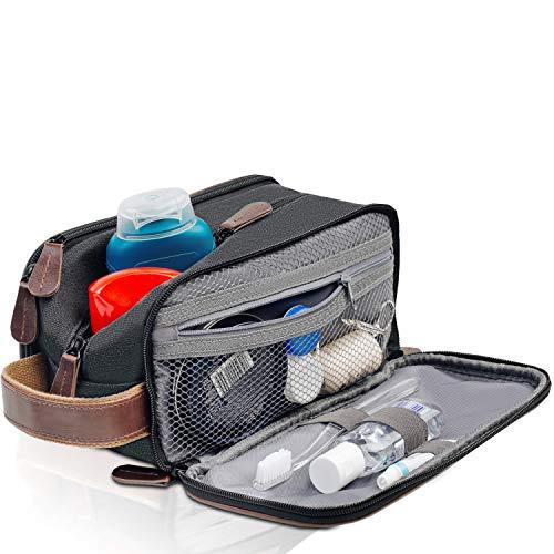 Travel Toiletry Bag – Dopp Kit for Men – Cosmetic Toiletry Bag for Men | Large Portable Bathroom Accessories Kit…