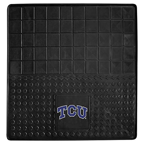 Black NCAA TCU Horned Frogs Cargo Mat for SUV Cars Sports Car Floor Mats Large Car Jeep SUV Trunk Mats Garage Floor Carpets Rugs Universal Waterproof Team Logo Basketball Fan Gift, Heavy Duty Vinyl ()