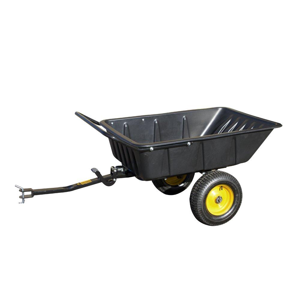 Polar Trailer LG600 Hybrid Trailer Heavy Duty Dump Cart Hand Trailer Compatible to Pull Behind John Deere/Cub Cadet Lawn Mowers and Tractors by Polar Trailer