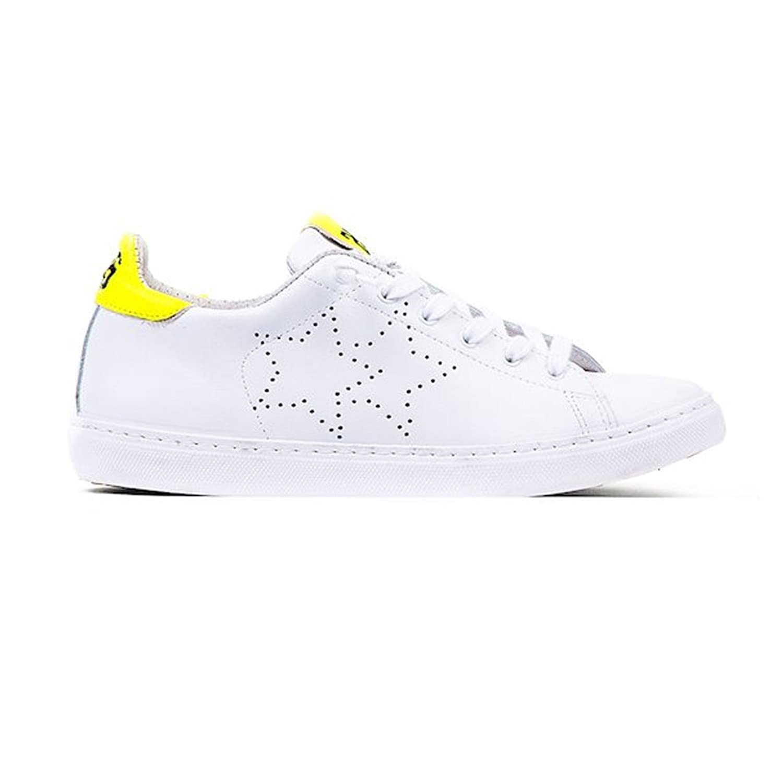 2Star Zapatillas de Piel Para Hombre Multicolor Bianco 43 EU