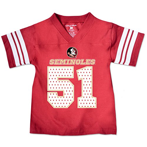 NCAA Florida State Seminoles Toddler Football Tee, 3 Toddler, Cardinal (Florida State Seminoles Football Jersey)