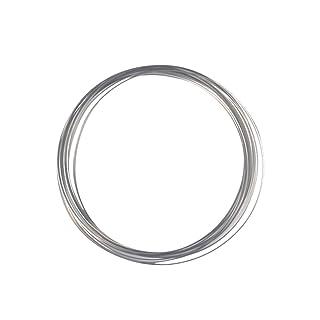 VORCOOL 15 cm Flow Ring Giocattolo Multi Sensori Interattivo 3D Scultura Anello Capsule Primavera Giocattolo per bambini (bianco)