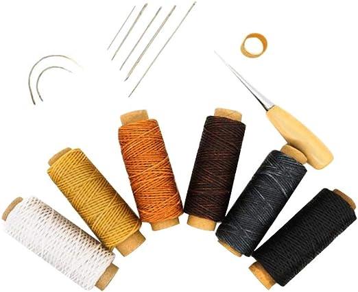 Supvox Herramienta artesanal de cuero Agujas de coser a mano ...