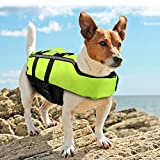 Namsan Dog Life Jacket - Folding Dog Life Vest,Portable Airbag Dog Swimming Jacket Vest,Green,Medium