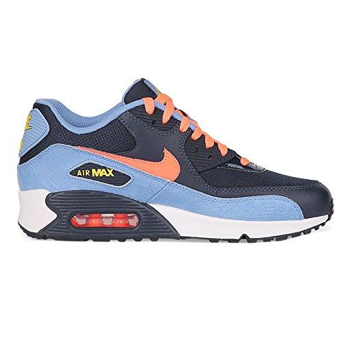 the latest 822a3 d0643 Galleon - Nike Air Max 90 Mesh (GS) Obsidian ChalkBlue BrightMango  724855-408 (Size  5.5Y)