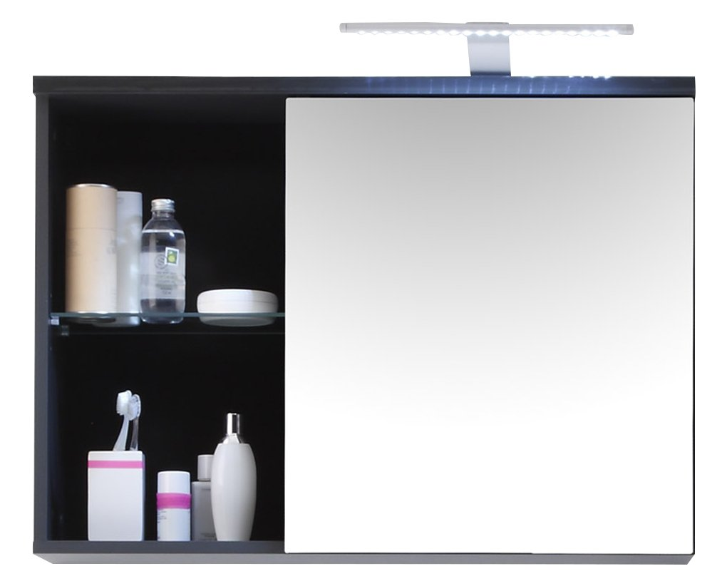 Stella Trading 54-864-C0 Badezimmer-Spiegelschrank, Circa 69 x 58 x 25 cm, grau