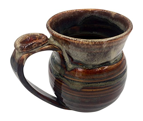 Healing Stone Handcrafted Unique Mugs Featuring Energy Stones (Chocolate Raspberry with Citrine)