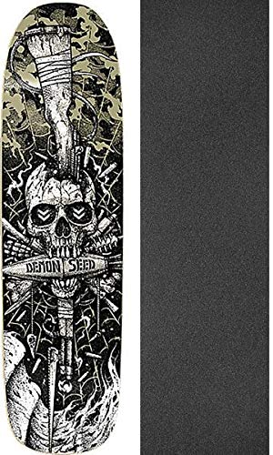 DemonシードSkateboards Join or Die Old Schoolスケートボードデッキ – 8.75