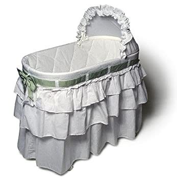 Amazon Com Burlington Baby Bassinet With Full Skirt And