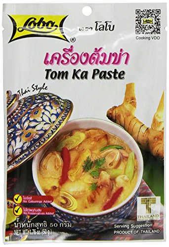 Lobo Thai Envelope Spicy Coconut Chicken Soup, Tom Ka, 1.76 Ounce (Pack of 5)