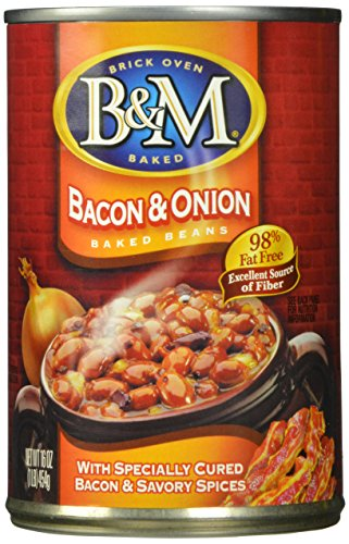 B&M Baked Beans, Bacon & Onion, 16 Ounce (Pack of 12) (Best Barbecue Baked Beans)