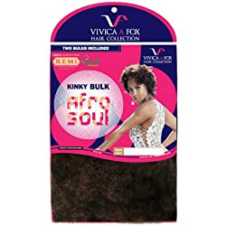 Vivica A Fox Hair Collection HKBK16-V Human Hair Afro Curl Kinky Bulk Extension, 1, 5.8 Ounce