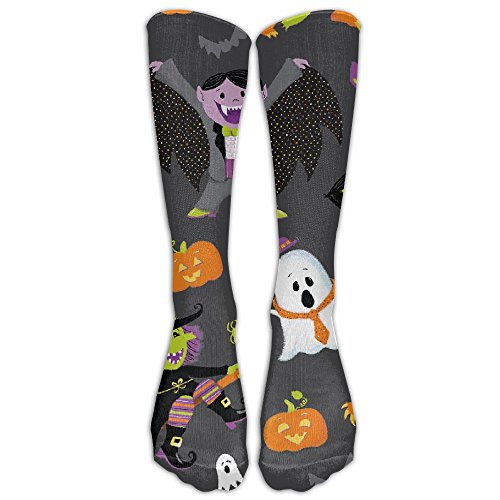 (Personalized Funny Halloween Unisex Knee High Socks Athletic Sport)