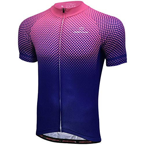 LEADER CYCLING Men's Cycling Jerseys Quick Dry Biking Shirt Summer