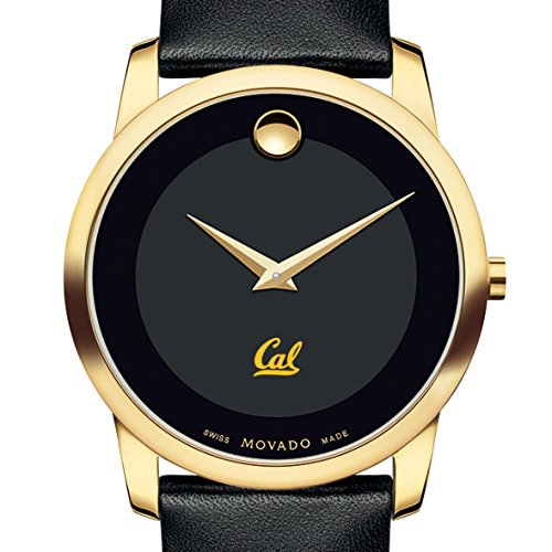 Movado Mens Museum - Berkeley Men's Movado Gold Museum Classic Leather