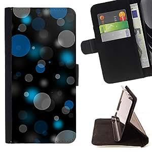 BullDog Case - FOR/Samsung Galaxy S3 III I9300 / - / Bokeh Blue & Gray Pattern /- Monedero de cuero de la PU Llevar cubierta de la caja con el ID Credit Card Slots Flip funda de cuer