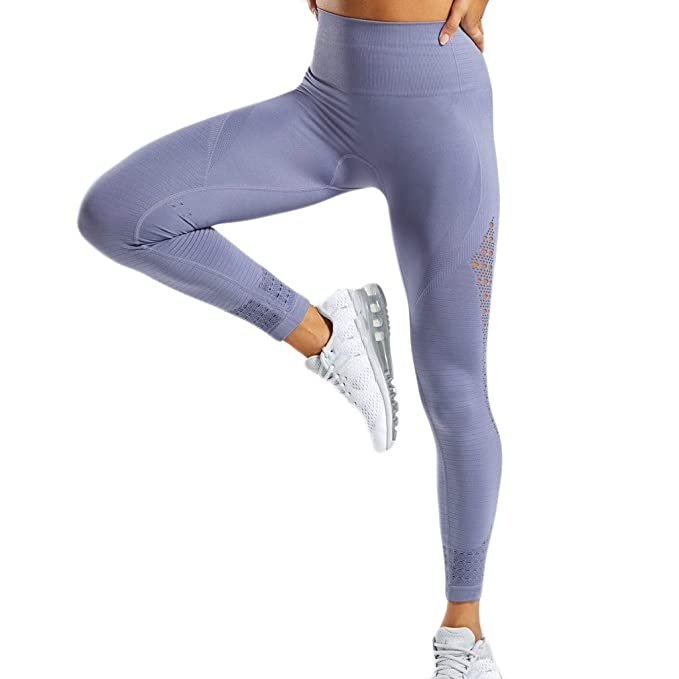 Darringls Pantalones Yoga Mujer,Leggings de Fitness para Mujeres Leggings de Malla de Cintura Alta Pantalones Push Up Ajustados