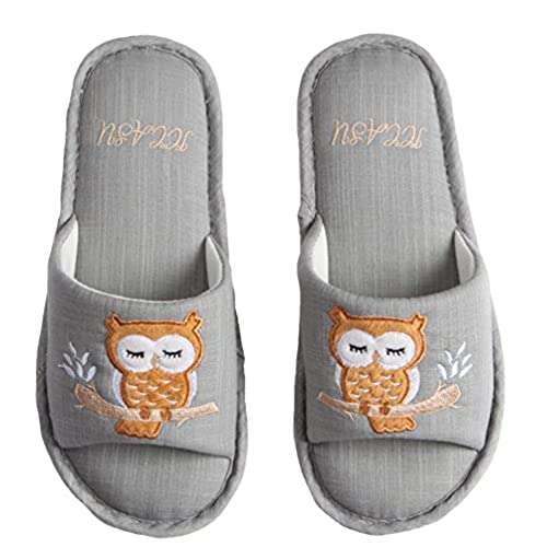 On Sale Hw Goods Mens And Womens Owl Print House Shoes Cozy Couple