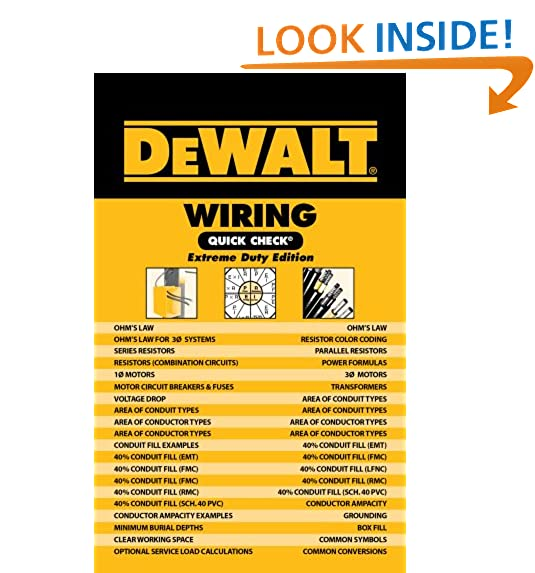 Electrical calculations amazon dewalt wiring quick check dewalt series greentooth
