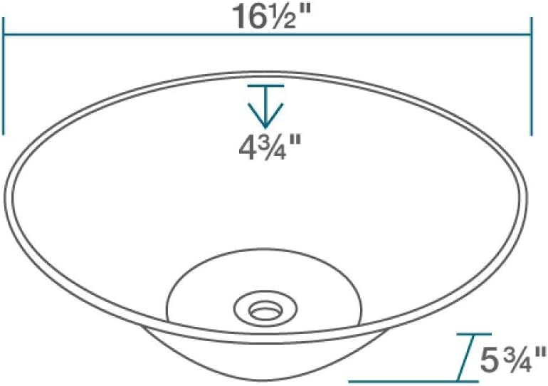 V220-W White Porcelain Vessel Lavatory Sink