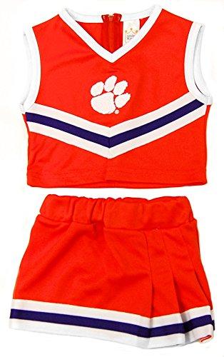 Little King NCAA Clemson Tigers Two Piece Cheer Dress, Size 6, Orange - Auburn Florida Football