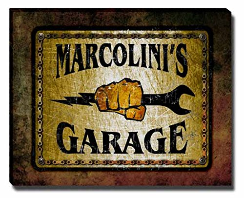 marcolinis-garage-stretched-canvas-print
