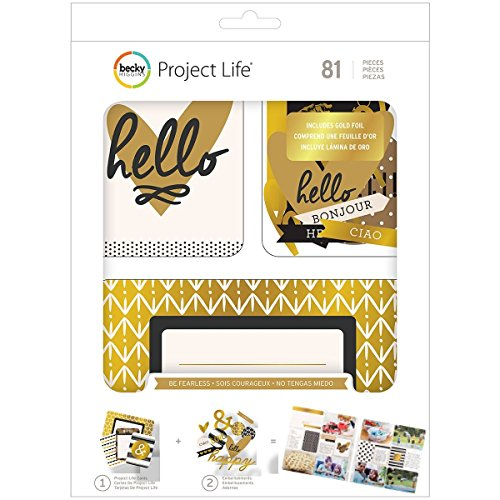 Project Life Halloween Kit (Project Life 380552 Value Kits-Be Fearless-Gold Foil (81 Piece),)