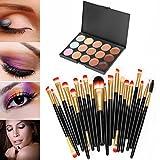 Susenstone®20 pcs/set Makeup Brush Set (15 Colors Concealer + 20 BRUSH)