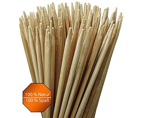 Grillspieße Marshmallow Sticks 100 Stück fast 1 Meter lang (90 cm) Lagerfeuer Spieße für Stockbrot, Marshmallows, Bratwurst, ideal für Outdoor sehr stabil ohne Reinigen