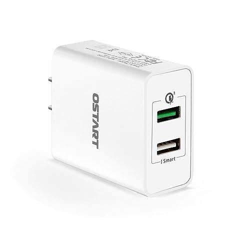 Amazon.com: USB cargador rápido 3.0 ostart 30 W (4 ...