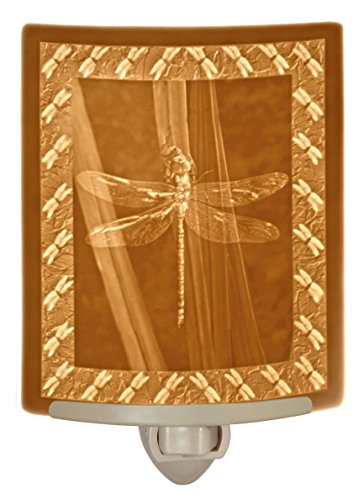 Porcelain Curved Lithophane Nightlight (Dragonfly Night Light)