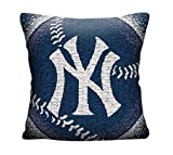 Northwest MLB Jacquard Throw Pillow Yankees