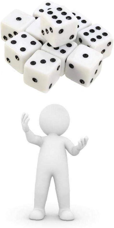 Dados con puntos negros Pips para juegos de mesa Actividad tema del partido del casino favorece los regalos de juguetes Pack de 100 blanca: Amazon.es: Juguetes y juegos