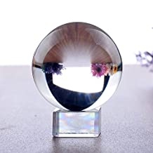 """Clear Crystal Ball Magic Orb Sphere Bezircle 2-4/11"""" DIA with K9 Stand (2-4/11"""" DIA, K9 Clear)"""